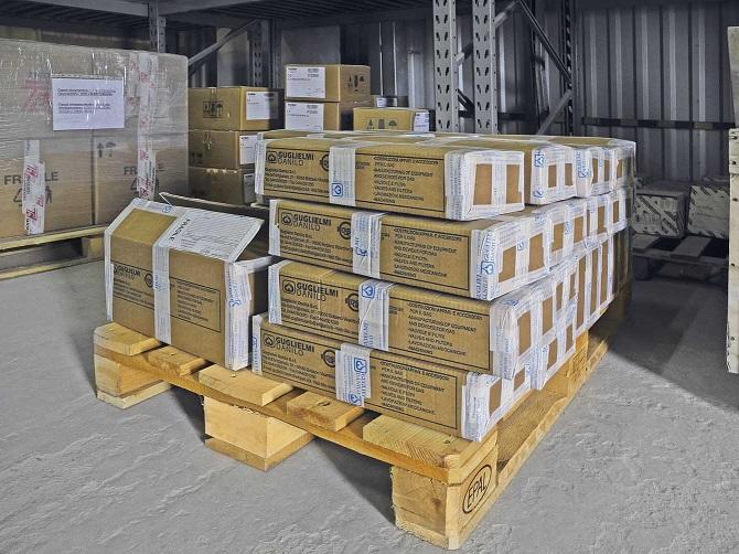 Краны кнопочные GUGLIELMI DANILO по спецзаказу доставлены на склад
